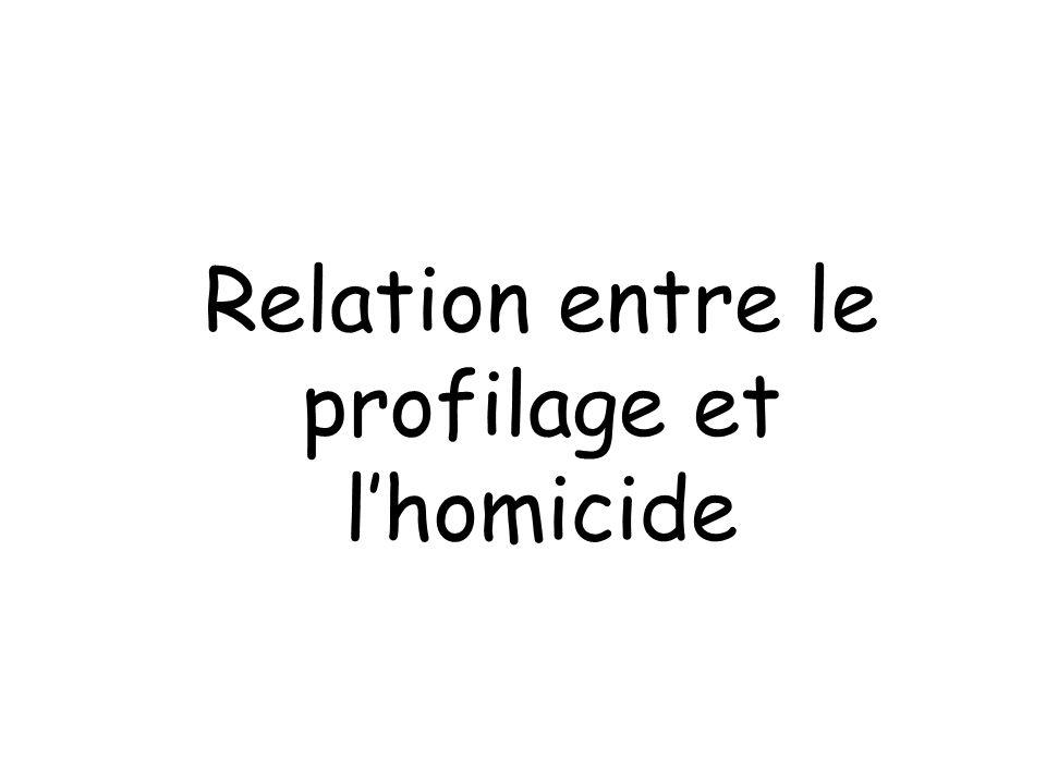 Relation entre le profilage et l'homicide