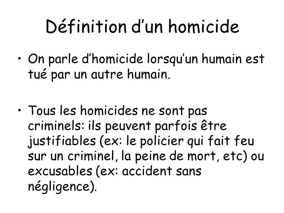 Définition d'un homicide