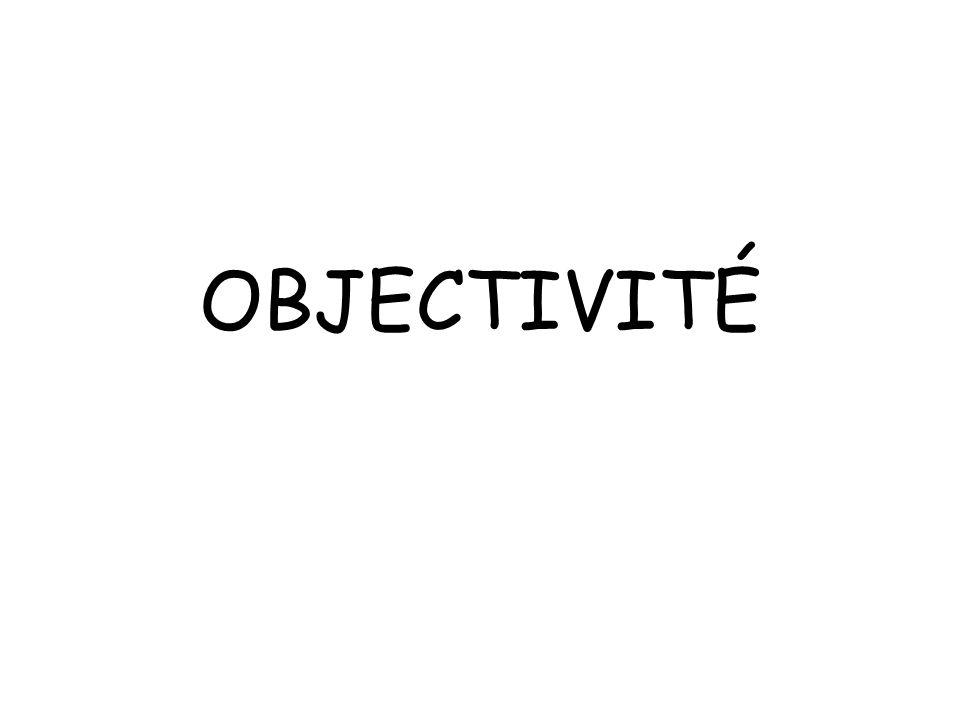 OBJECTIVITÉ