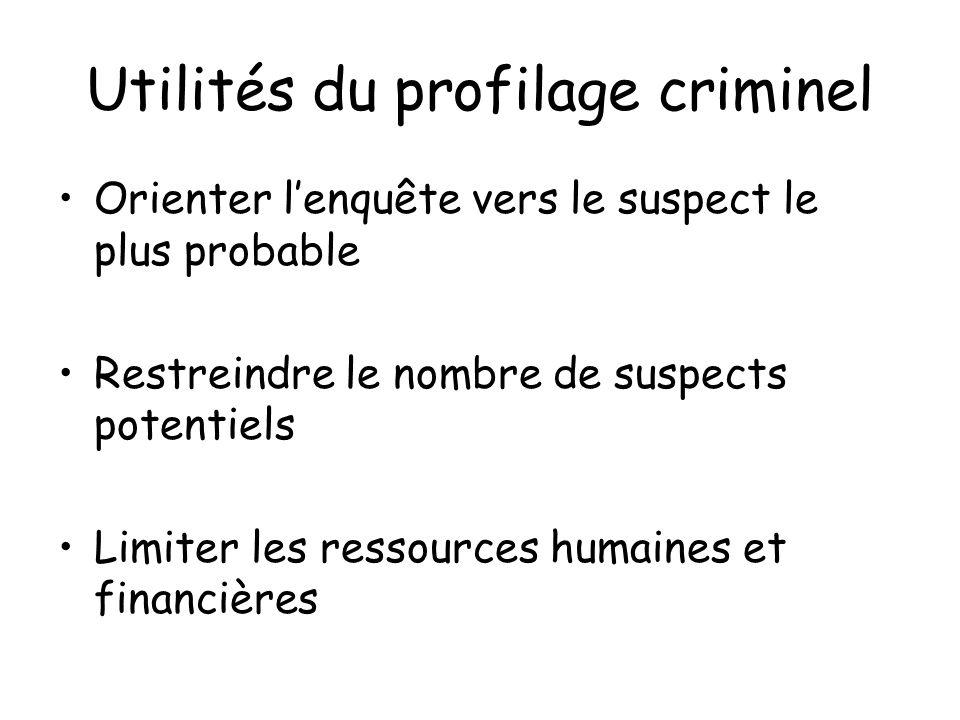Utilités du profilage criminel