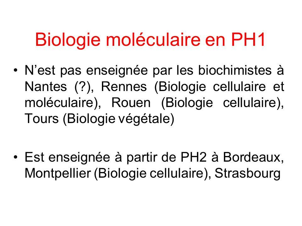 Biologie moléculaire en PH1