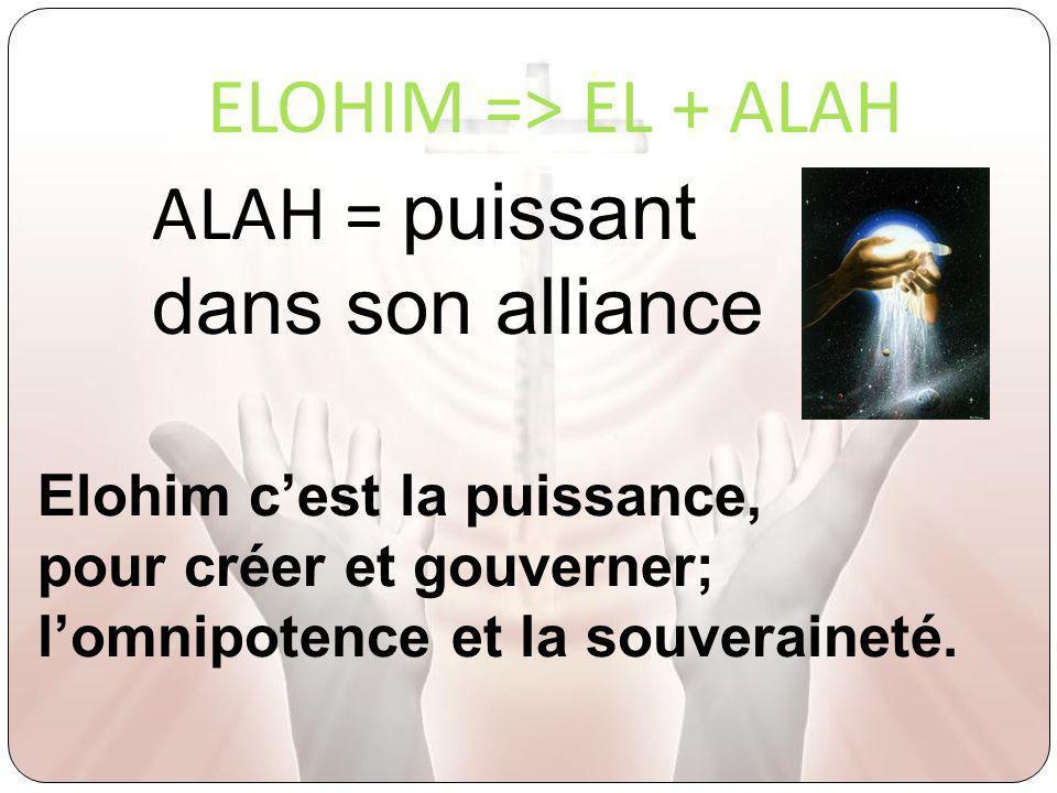 ALAH = puissant dans son alliance