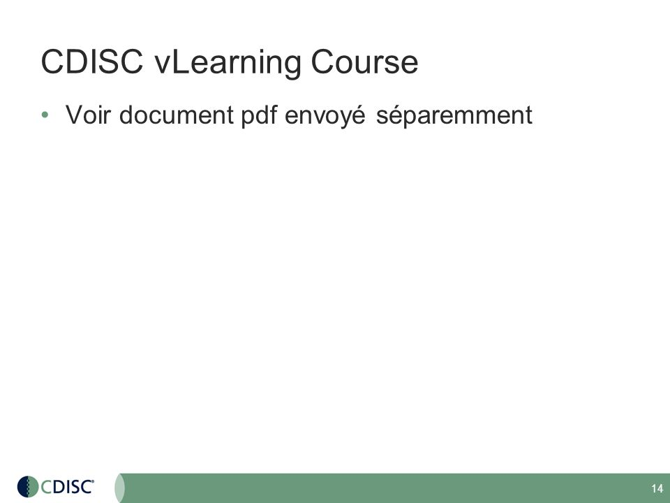 CDISC vLearning Course