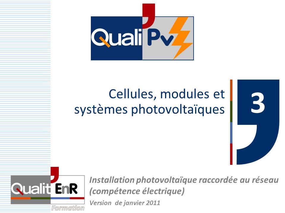 Cellules, modules et systèmes photovoltaïques