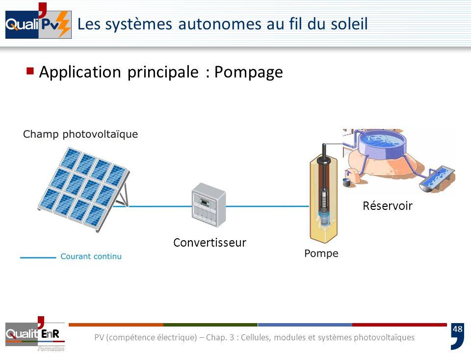 Les systèmes autonomes au fil du soleil
