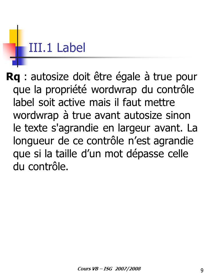 III.1 Label
