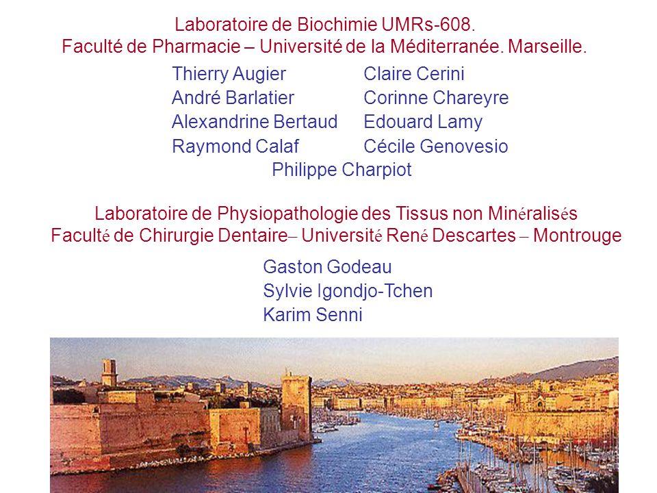 Laboratoire de Biochimie UMRs-608.