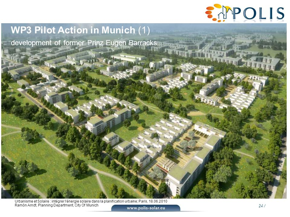 WP3 Pilot Action in Munich (1) development of former Prinz Eugen Barracks
