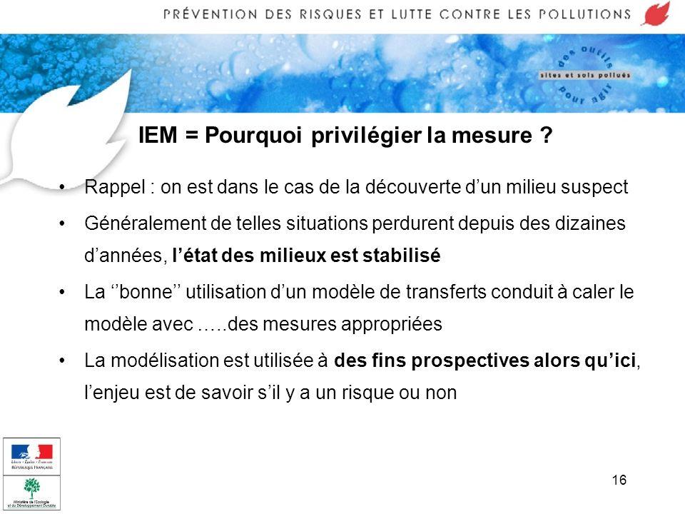 IEM = Pourquoi privilégier la mesure