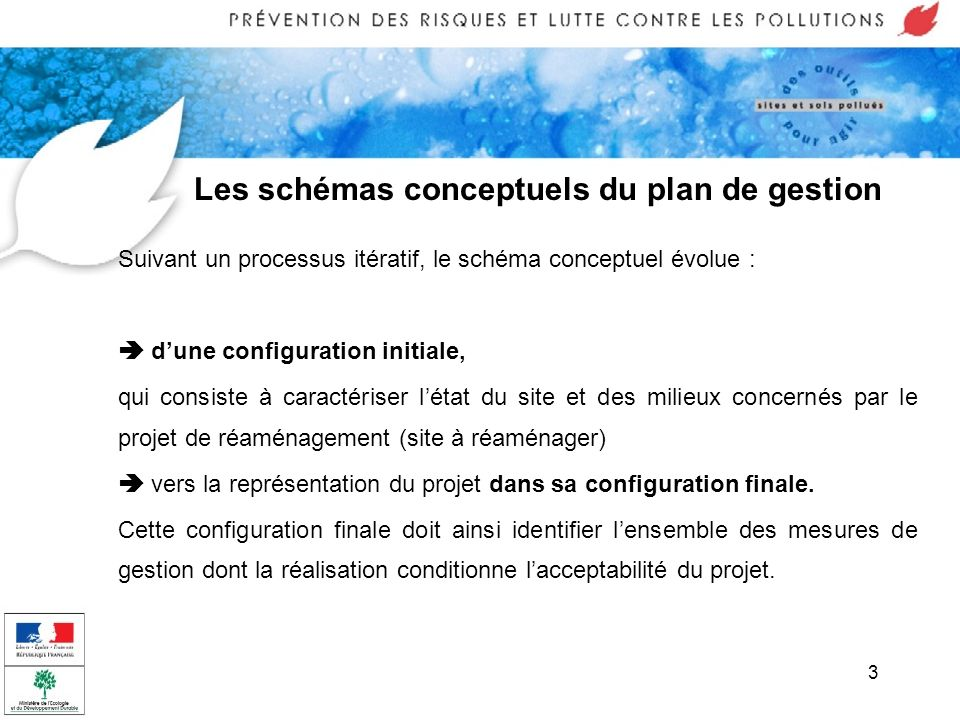 Les schémas conceptuels du plan de gestion