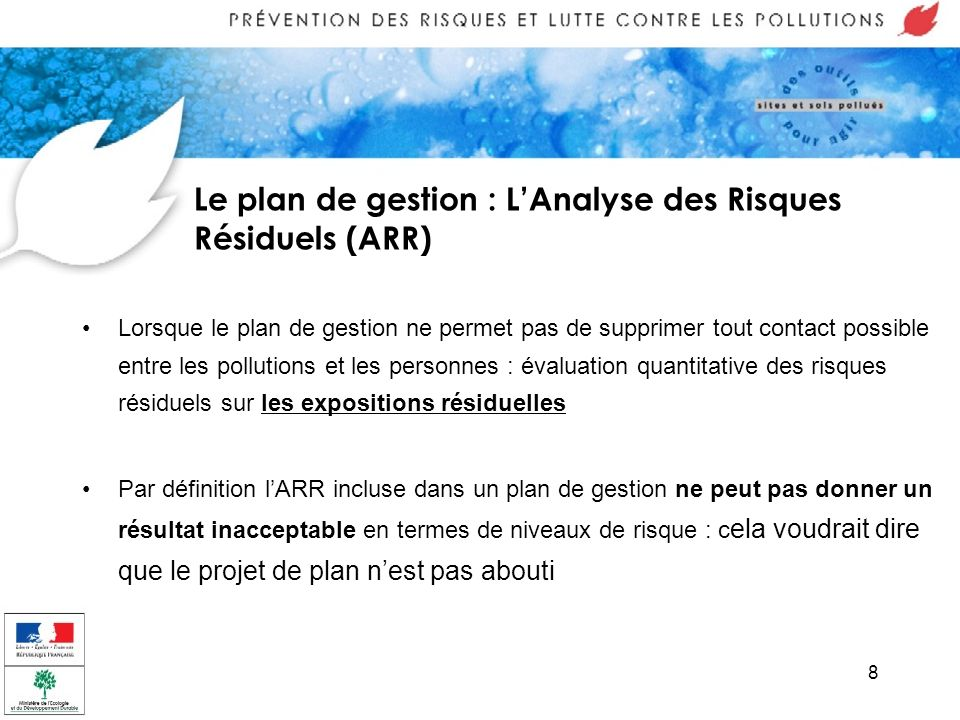 Le plan de gestion : L'Analyse des Risques Résiduels (ARR)