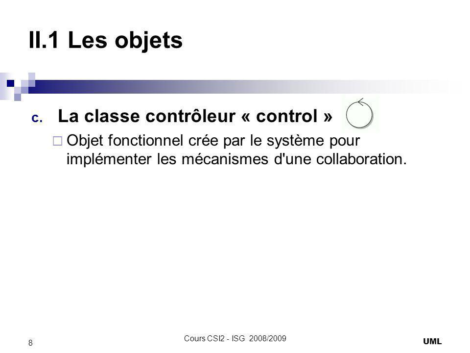 II.1 Les objets La classe contrôleur « control »