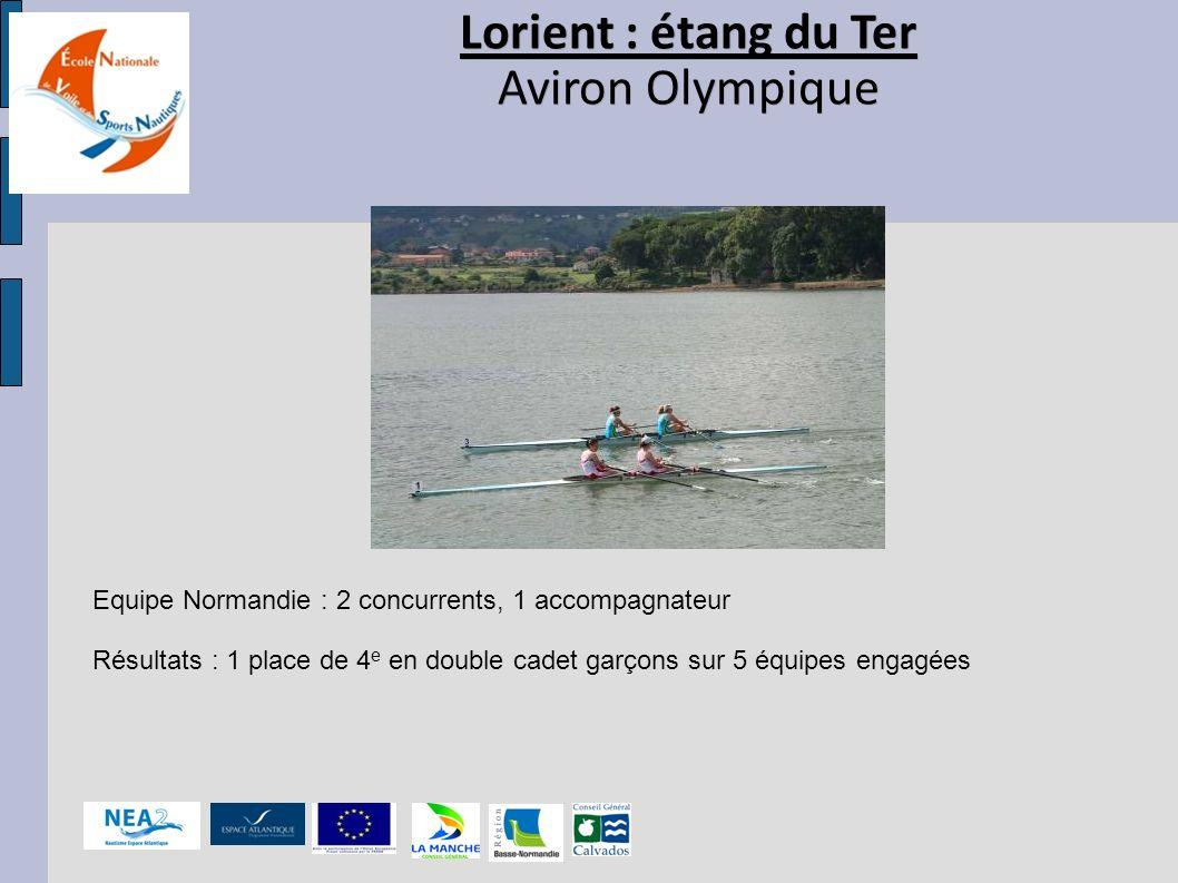 Lorient : étang du Ter Aviron Olympique