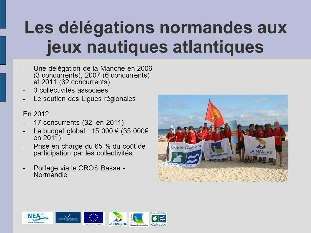 Les délégations normandes aux jeux nautiques atlantiques