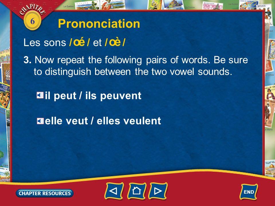 Prononciation Les sons / / et / / il peut / ils peuvent