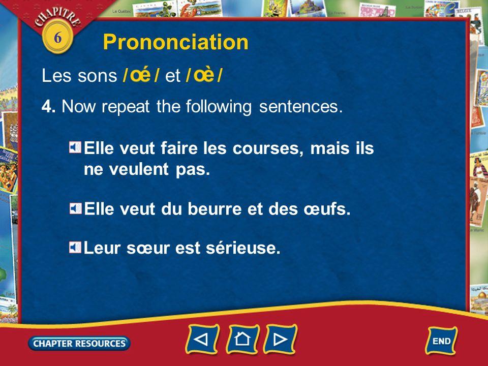 Prononciation Les sons / / et / /