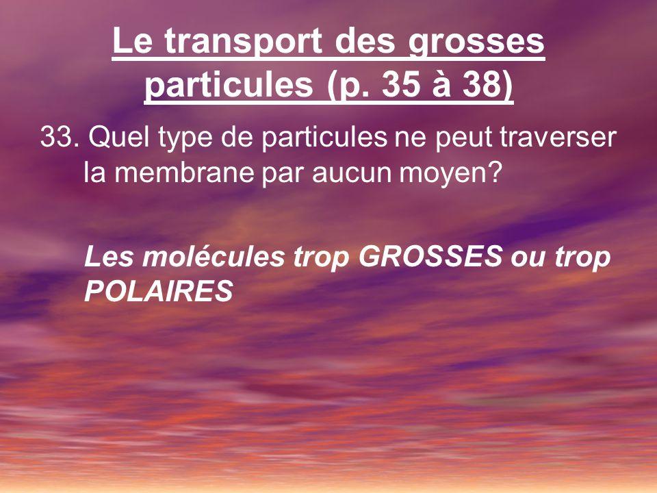 Le transport des grosses particules (p. 35 à 38)