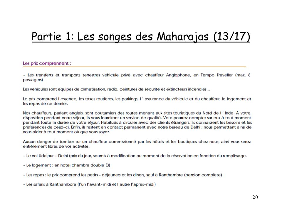 Partie 1: Les songes des Maharajas (13/17)