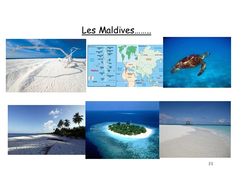 Les Maldives……..