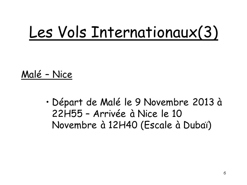 Les Vols Internationaux(3)
