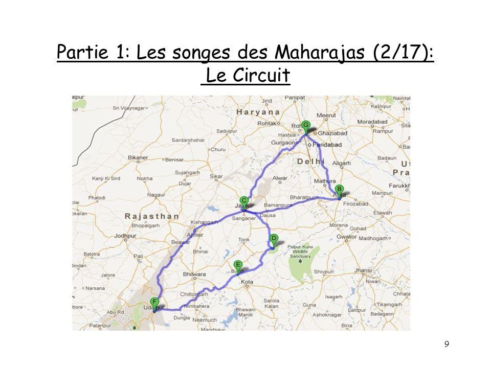 Partie 1: Les songes des Maharajas (2/17): Le Circuit