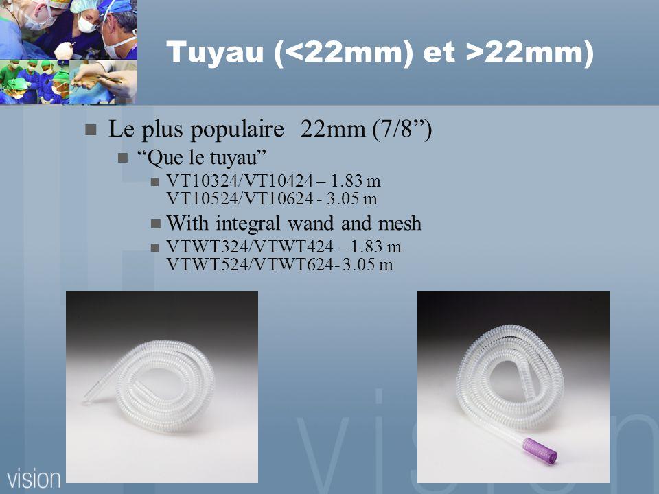Tuyau (<22mm) et >22mm)