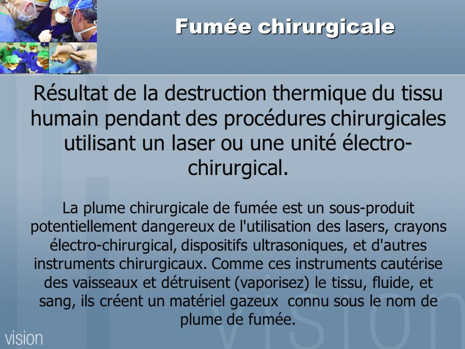 Fumée chirurgicale