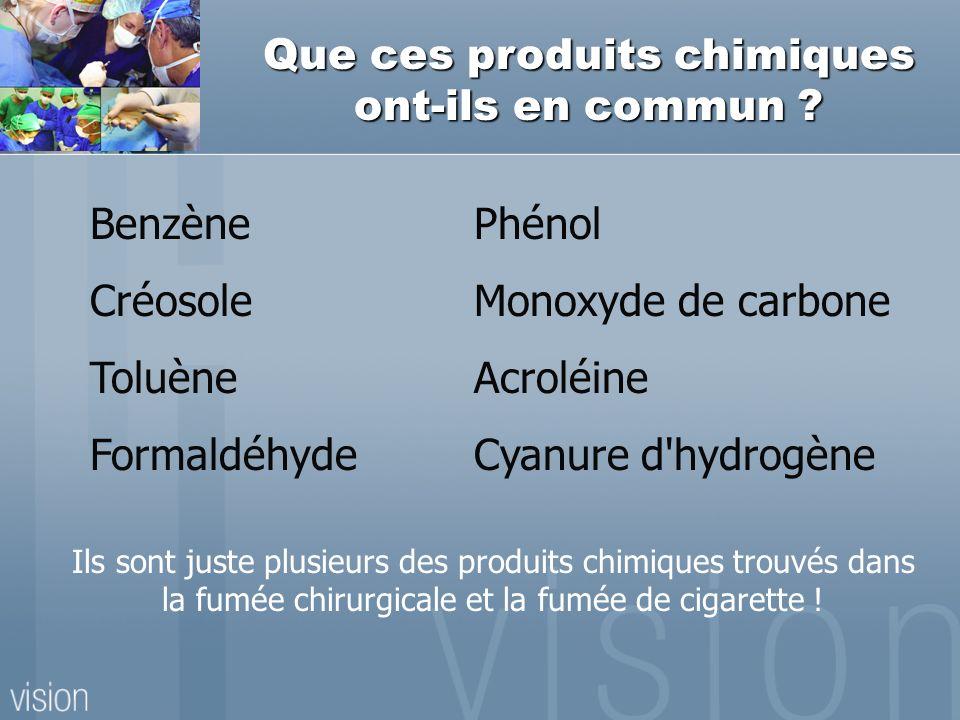 Que ces produits chimiques ont-ils en commun