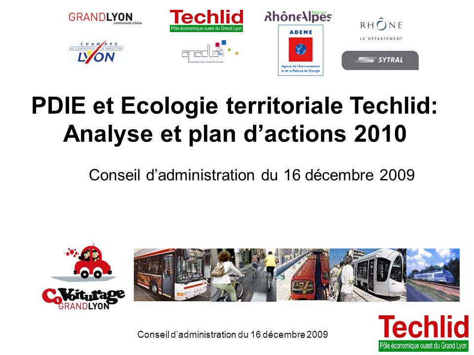 PDIE et Ecologie territoriale Techlid: Analyse et plan d'actions 2010