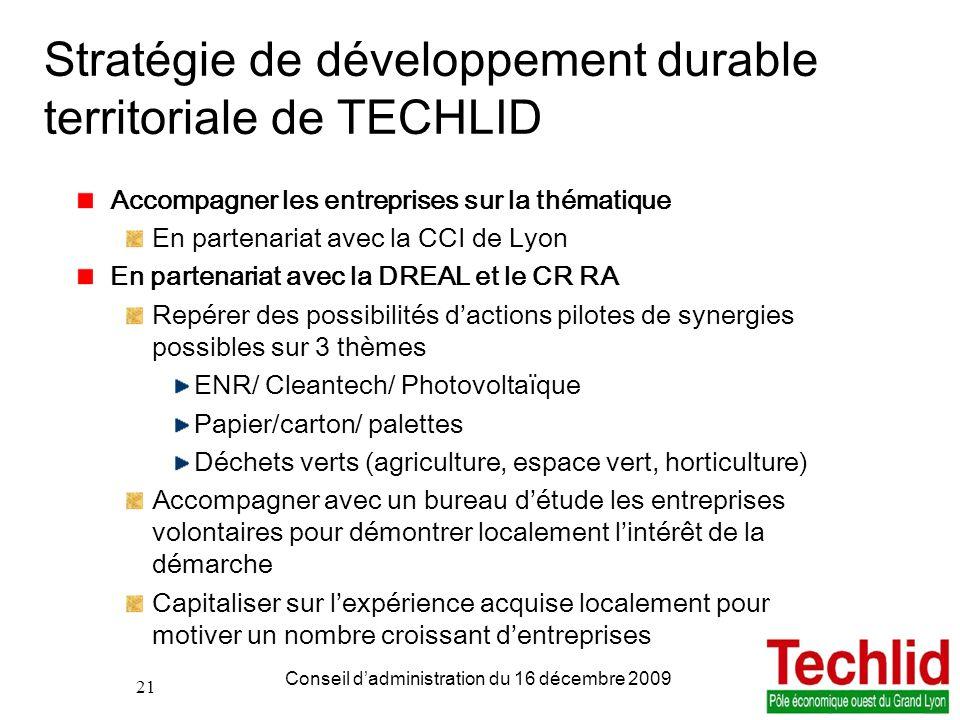 Stratégie de développement durable territoriale de TECHLID