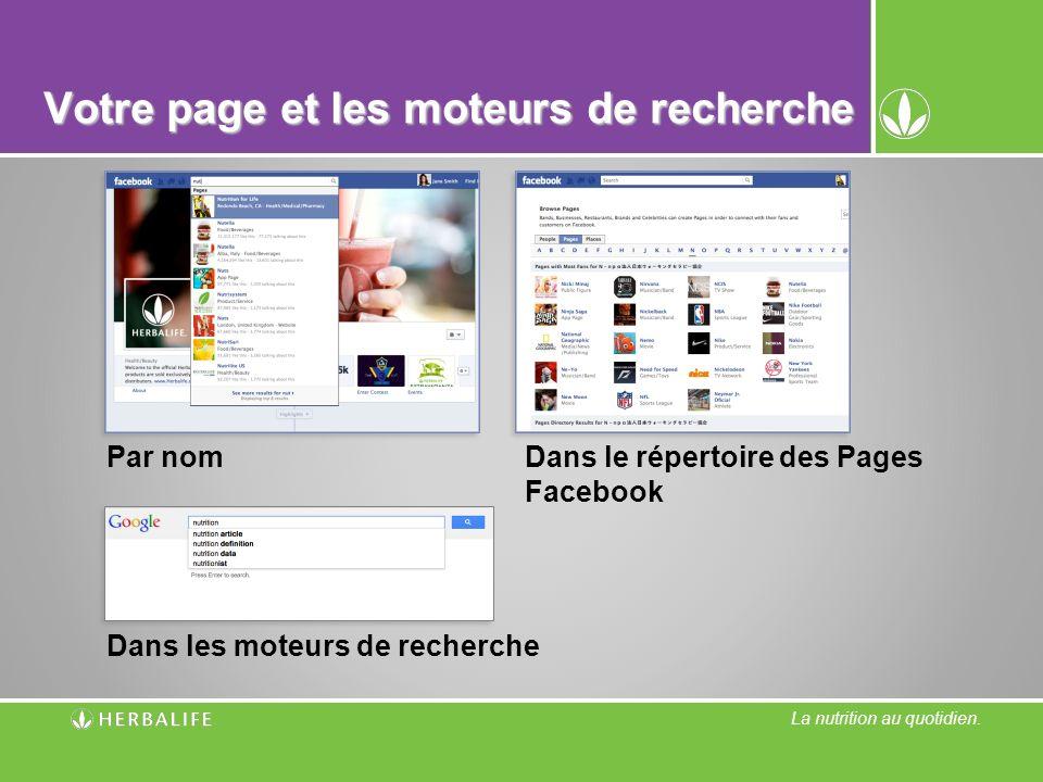 Votre page et les moteurs de recherche