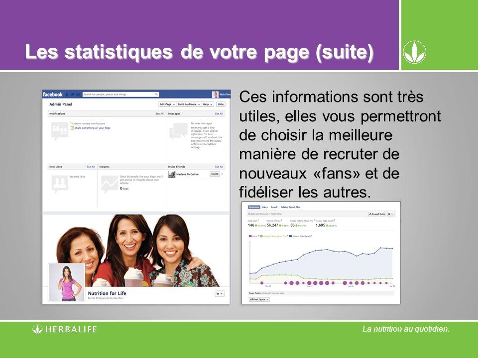 Les statistiques de votre page (suite)