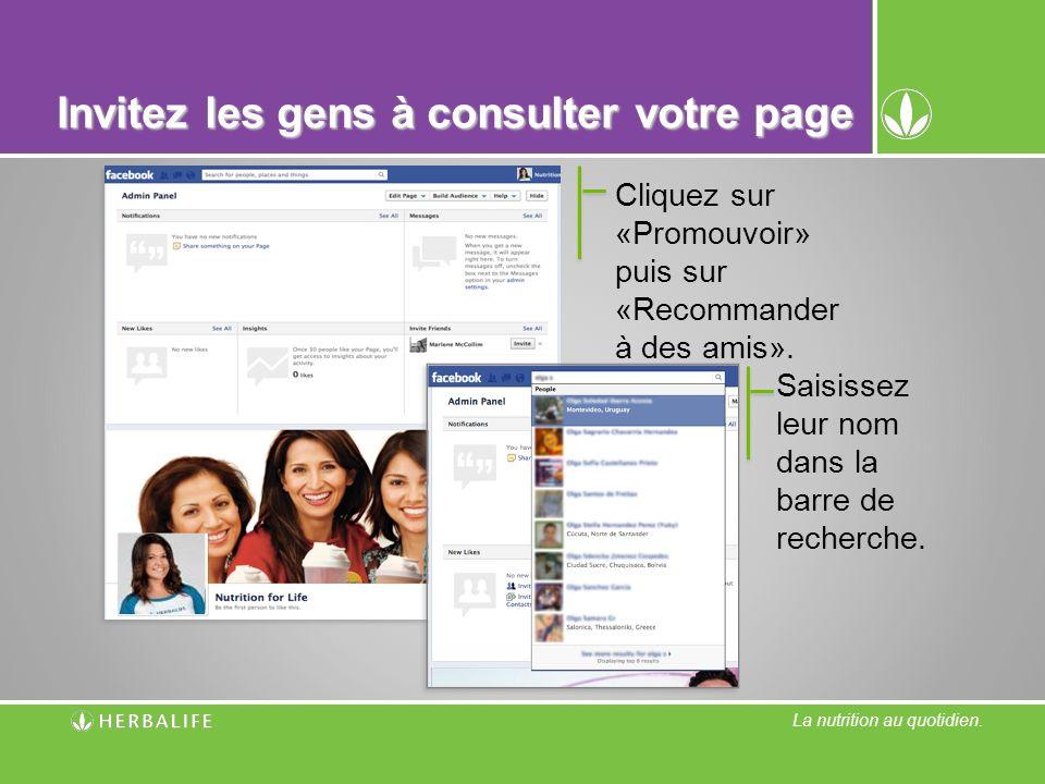 Invitez les gens à consulter votre page