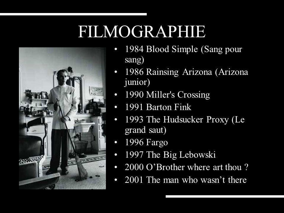 FILMOGRAPHIE 1984 Blood Simple (Sang pour sang)