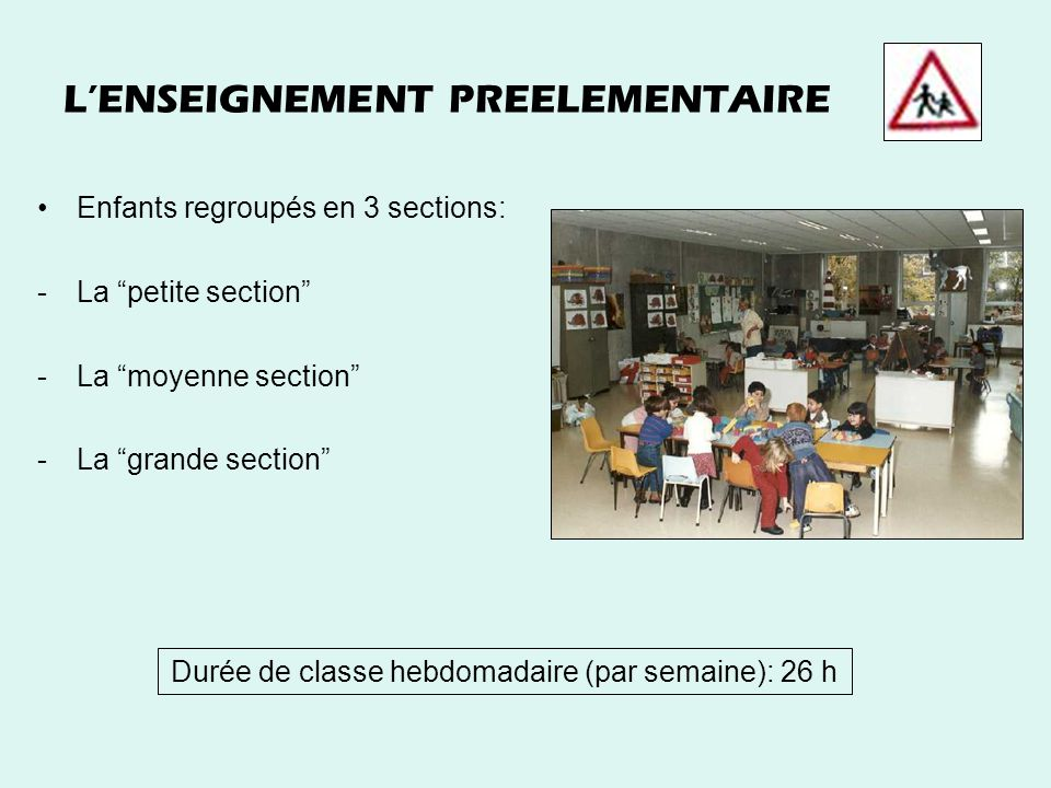 L'ENSEIGNEMENT PREELEMENTAIRE