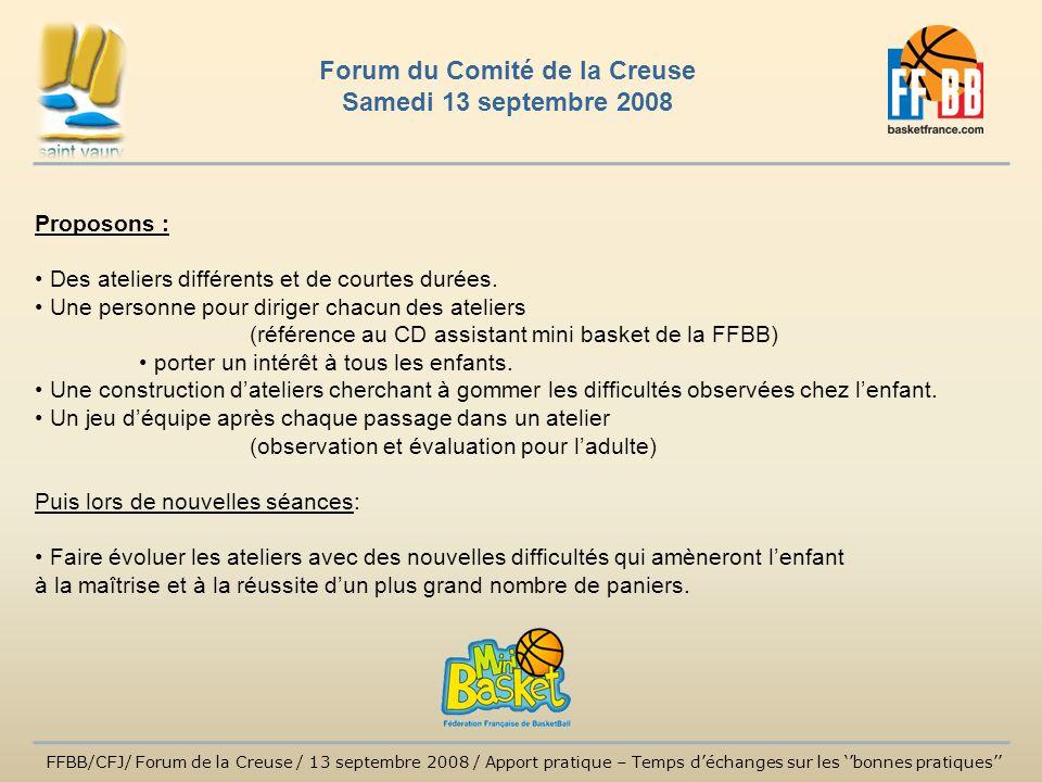 Forum du Comité de la Creuse