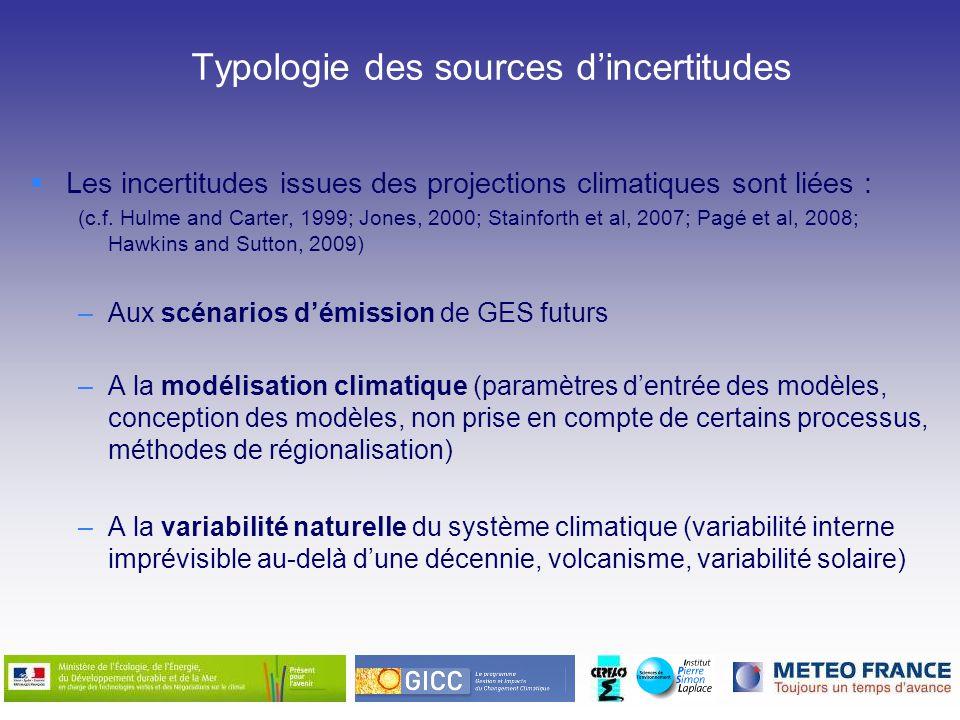 Typologie des sources d'incertitudes