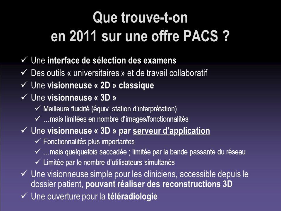 Que trouve-t-on en 2011 sur une offre PACS