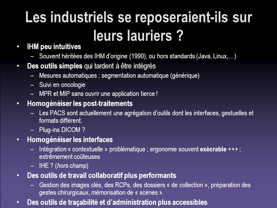 Les industriels se reposeraient-ils sur leurs lauriers