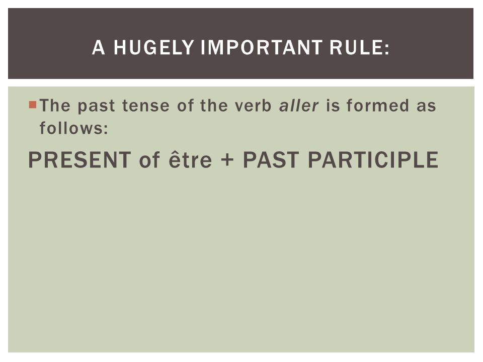 a hugely important rule: