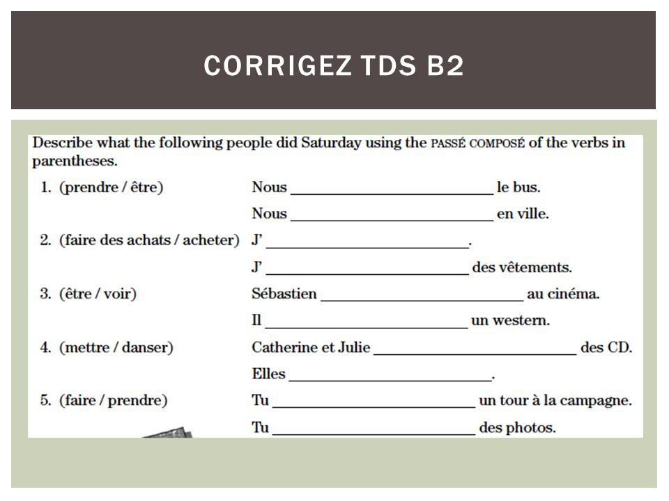 corrigez TDS B2