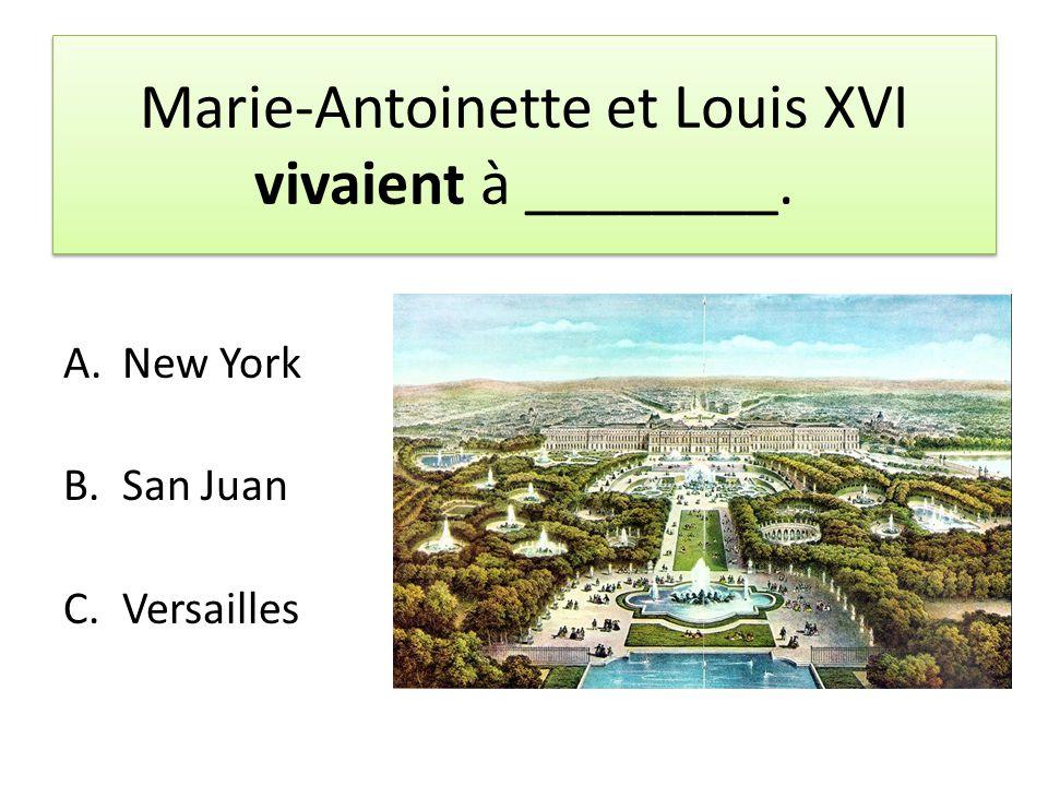 Marie-Antoinette et Louis XVI vivaient à ________.