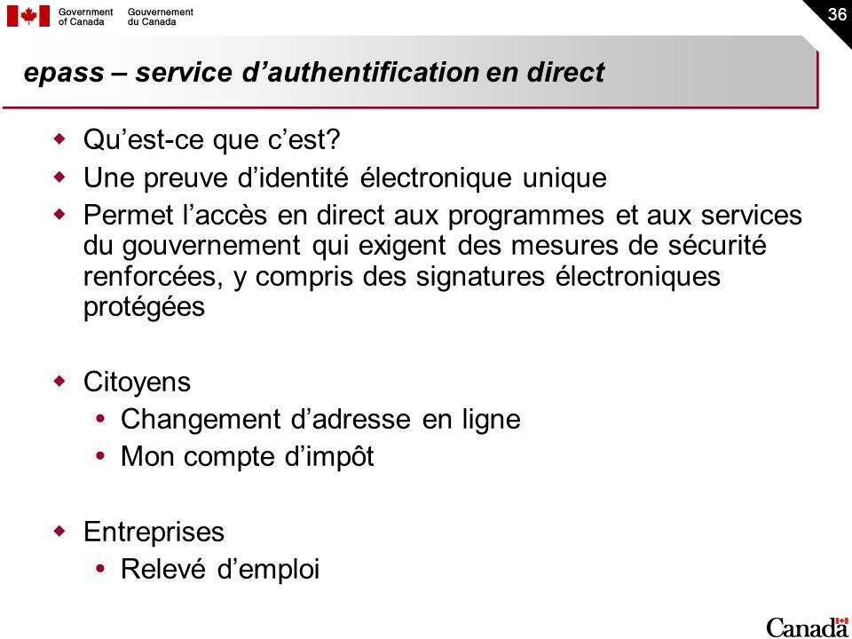 epass – service d'authentification en direct