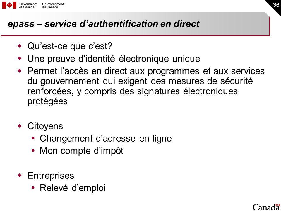 epass – service d'authentification en direct