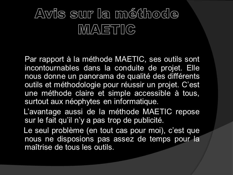 Avis sur la méthode MAETIC