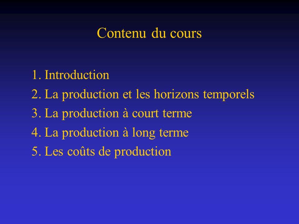Contenu du cours 1. Introduction