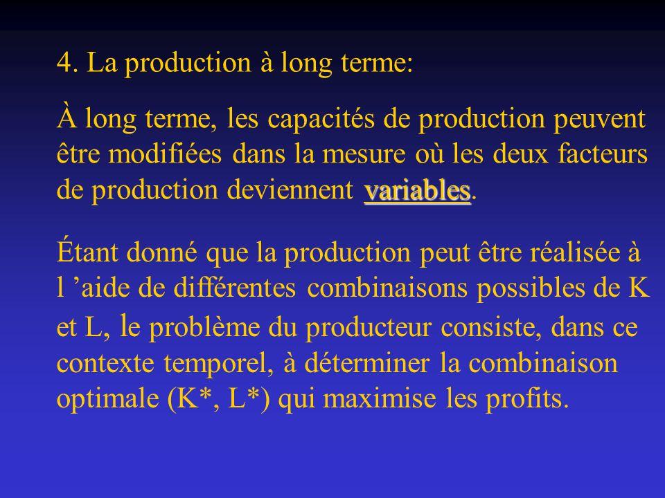 4. La production à long terme: