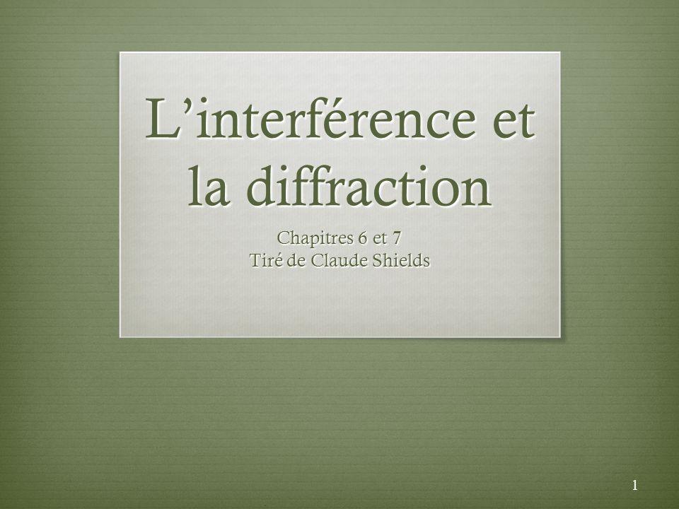 L'interférence et la diffraction