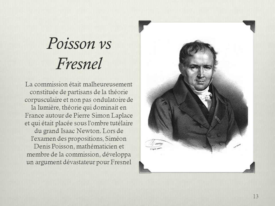 Poisson vs Fresnel