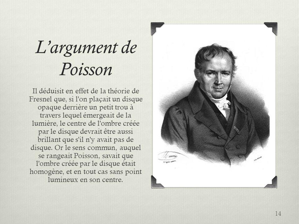 L'argument de Poisson